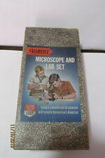 GILBERT No. 13062 MICROSCOPE IN ORIGINAL BOX