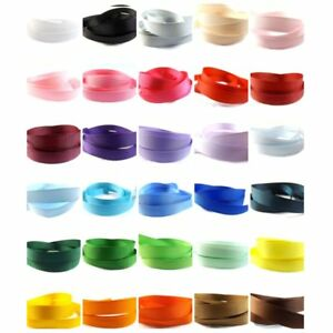 """Grosgrain Ribbon 12mm - 13mm (1/2"""" inch) - 35 Plain Coloured Double Sided/Faced"""