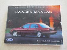 Original 1992 Ford EB Falcon & Fairmont and Fairmont Ghia owner's manual