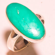 CHRYSOPRASE 925 SOLID STERLING SILVER RING SIZE 7.25 US