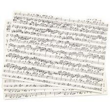 Sheet Music Notes Print Paper - A4 x 10 Sheets - Craft Kraft Musical Score Make