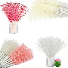 100 Stems 6 Colors Wedding Flower Bouquet Pearl Spray Bead Tiaras Corsage Decor