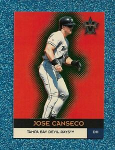 2000 PACIFIC VANGUARD GREEN PARALLEL #41 JOSE CANSECO NUMBERED 28/99 RAYS A'S