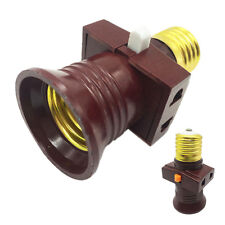 E27 Screw Base Light Holder Convert To With Switch Lamp Bulb Socket Adapter Home