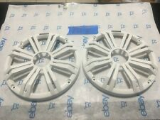 """NEW  1 PAIR OF 8""""  WHITE KICKER MARINE SPEAKERS GRILLS COVERS ONLY, FOR KM-8"""