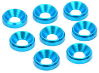 Apex RC Products Blue 4mm Aluminum Counter-Sunk Screw Washers #6550