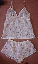 New Sz 16 Next Ditzy Rose Floral Cami Camisole Vest Top & Boxer Shorts Set Cool