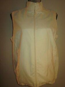 EP Pro Light Yellow Golf Vest Zipper Front Size Medium