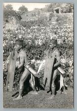 Filipino Warriors Rppc Ifugaos? Philippines Rare Antique Photo Azo 1910s