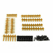 Japanese Sportbikes Complete Fairing Spike Bolts Screws Fasteners Kit Gold /A5