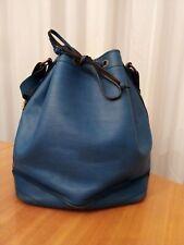 Autentica Louis Vuitton Epi Noe Blu Borsa a Spalla shoulder bag leather