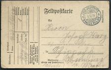 1916 WWI Military Germany Feldpostkarte Field Post Postcard Feld PostExped