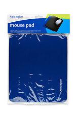 Kensington Blue Mouse Mat Pad Smooth Non Slip Skid Backing For PC Laptop Mac