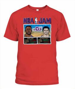 Jam Utah Jazz T-shirt John Stockton & Karl Malone Tee Basketball Gift For Fan