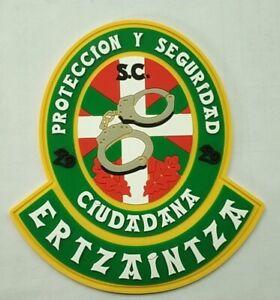 parche POLICIA ERTZAINTZA PROTECCION Y SEGURIDAD VERDE, spain police patch