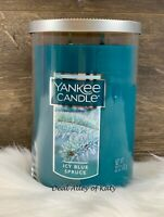 Yankee Candle ICY BLUE SPRUCE 2 Wick Tumbler Candle New 22 oz