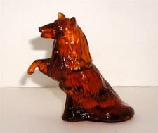 Vtg Avon Decanter Faithful Laddie Deep Woods Light Amber Glass 4 Oz 1977-1979 #8