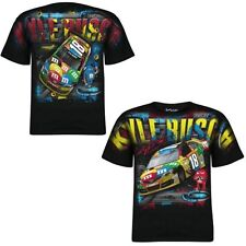 Kyle Busch 2014 Chase Authentics #18 M&M's Black Total Print Tee FREE SHIP!