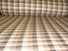 60 Inch Width Brown Check Polar Fleece, Material,Fabric,Soft /Washable +