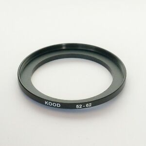 STEP UP ADAPTER 52MM-62MM STEPPING RING 52MM TO 62MM 52-62 FILTER ADAPTOR