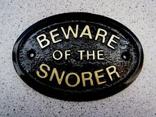 SNORER BEWARE - HOUSE DOOR PLAQUE SIGN BED SLEEP DREAM