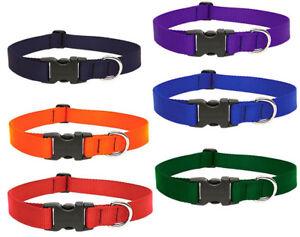 "LUPINE DOG COLLAR 1"" Red Blue Green Purple Orange Black"