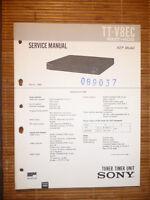 Service Manual für Sony TT-V8EC  ,ORIGINAL
