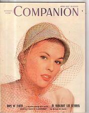 1947 Womans Home Companion April - Faith Baldwin; Jimmy Stewart; Heyd Twins;