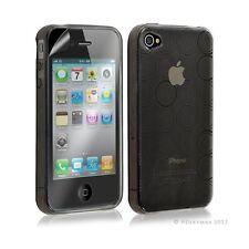 Housse étui coque en gel transparent pour Apple Iphone 4/4S motif rond couleur n