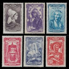1943 FRANCE CENTURY COSTUMES BOURGOGNE PICARDIE NH SCT. B167 -72  Y&T 593 -598