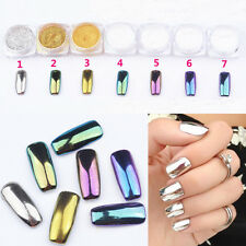 Nail Art Chrome Powder Metallic Mirror Effect Holo Rainbow Chameleon Glitters