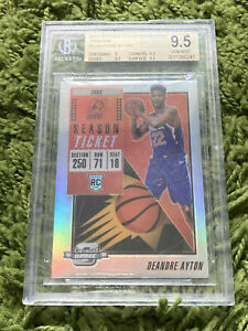 Deandre Ayton 2018-19 Playoff Contenders Optic Preview Holo Prizm RC #9 BGS 9.5