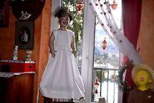 robe cyrillus 6 ans haut  doublee blanche ceremonie ceinture longue t t belle