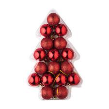 Décorations de sapin de Noël rouge sans marque