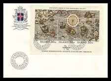Iceland 1989 FDC, Nordia 91. Miniature Sheet I. Lot # 1.