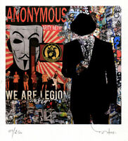 TABLEAU ART CONTEMPORAIN We are...  ed. TEHOS serie limitee 250 ex street art