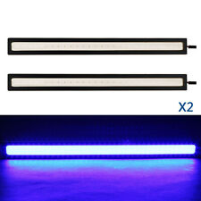 2Pcs Blue COB DRL Daytime Running Light Car LED 12V Interior Strip Waterproof US