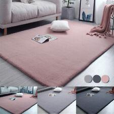 Fluffy Soft Faux Rabbit Fur Rug Wool Shaggy Area Rugs Floor Carpet Bedroom Mat