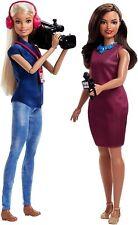 Barbie Careers TV News Team Dolls, 2 Pack  fjb22  NEW  3+