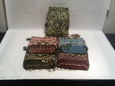 5 Seed Beads Draw String Shoulder Bags