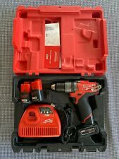 "MILWAUKEE 2403-22 M12 FUEL 1/2"" DRILL / DRIVER + EXTRA BATTERY - GREAT CONDITION"