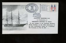 US President Event Cover 1974 NIxon Proclaims National Maritime Day