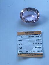 New Stunning Flawless Loose Gemstone  42.5ct  Oval Rare Violet  Kunzite