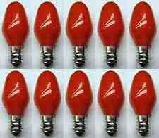 Box of 10 Bulbs 7C7/CR/120V 7 Watt 120 Volt Screw Base E12 Ceramic Red