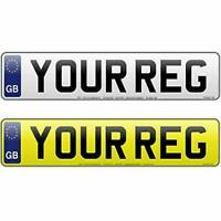 FRONT GB Standard MOT UK Road Legal Car Van Reg Registration Number Plate