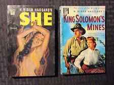 1949/50 SHE & KING SOLOMON'S MINES by H Rider Haggard VG-/VG Dell Paperback