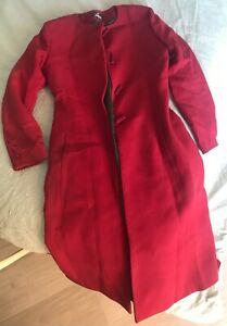 Alitalia Flight attendant cabin crew original coat Red Bilotta Uniform size 42