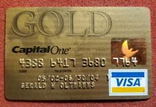 Capital One Gold Visa credit card exp 2004â—‡free shipâ—‡cc1760