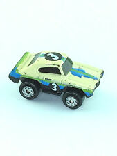 Micro Machines Vehicle Car 1968 Pontiac GTO Muscle Car Galoob #3 Cream Blue Auto