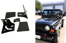 1 Set LED Light Windshield Mount Brackets For Jeep Wrangler TJ 1987-2006 w/Screw